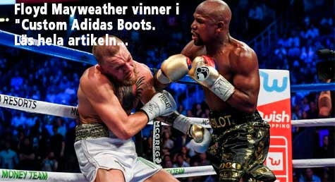 Floyd Mayweather Knocks Out Conor McGregor in Custom Adidas Boots