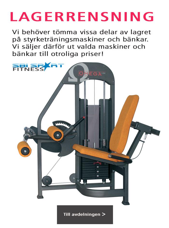 Lagerrensning av gymmaskiner
