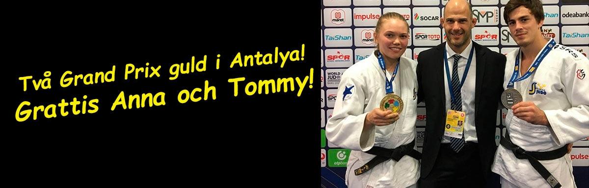Två judoguld i Antalya