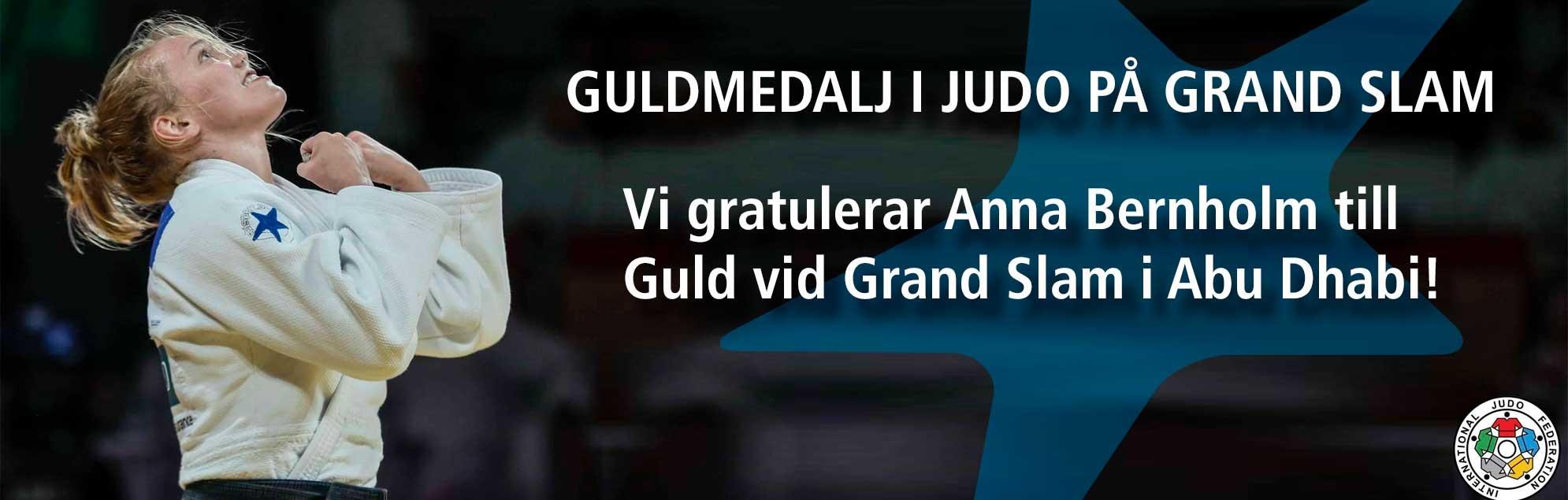 Vi gratulerar Anna Bernholm till Guld vid Grand Slam i Abu Dhabi
