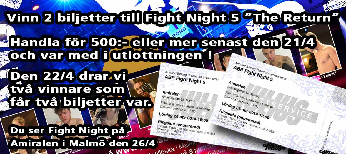 Vinn biltetter till Fight Night